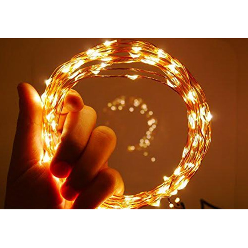 50m Plug In Copper Wire Seed Fairy Lights With Remote