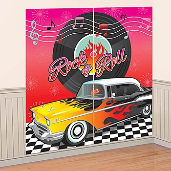50's Wall Decorating Kit - Rock n Roll