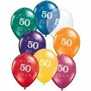 50th Birthday Balloons x 1