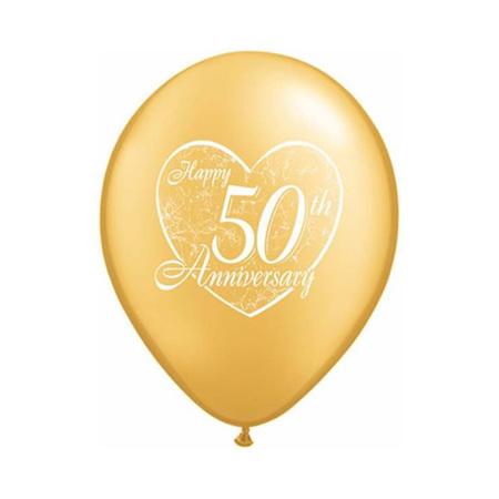 50th happy anniversary balloon - design 2