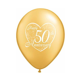 50th happy anniversary balloon - design 2