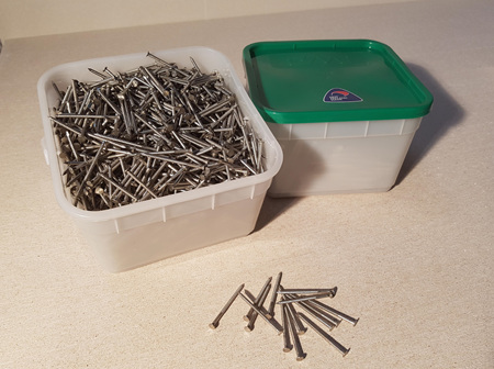 50x2.8mm Stainless Steel 316 Annular Grooved Flat Head Cladding Nails 5kg
