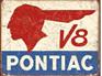Retro Tin Sign - Pontiac V8