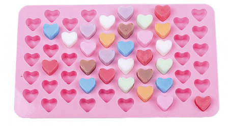 55 MINI HEART SILICONE MOULD