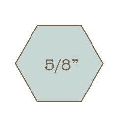 """5/8"""" Hexagon Acrylic Template"""