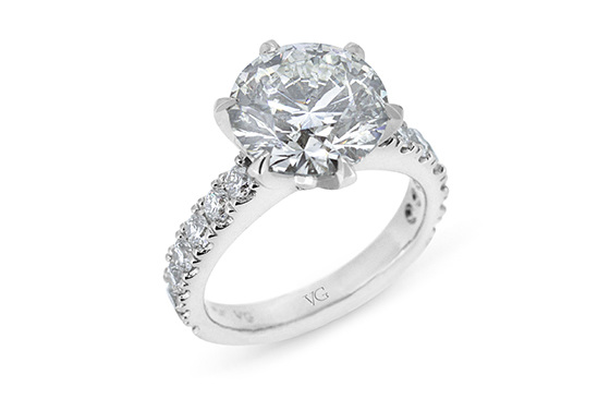 5ct diamond solitaire engagement ring