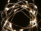 5m 50 LED Copper Wire Battery Seed Fairy Lights - Warm White