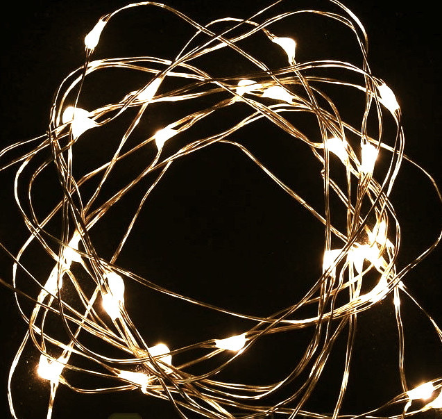 5m 50LED Copper Wire Seed Fairy Lights - Warm White - Party Lights Company