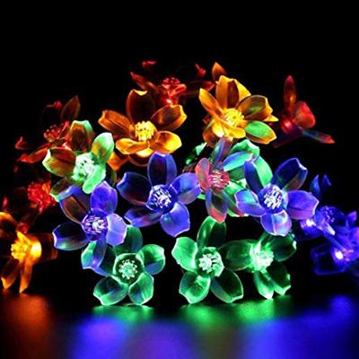5m Cherry Flower Battery Operated Fairy Lights - Rainbow