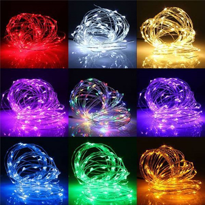 5m Flat Battery Silver Wire Seed Fairy Lights