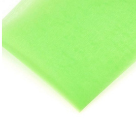5M ORGANZA MATERIAL - LIGHT GREEN