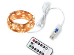 5m USB Peg lights Copper or Silver Wire Seed Fairy Lights - Warm White or Cool White
