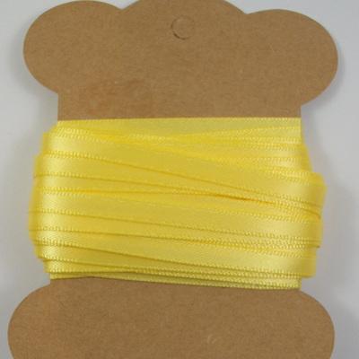 5mm Double-Sided Satin Ribbon: Lemon
