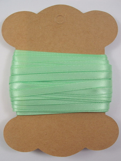 5mm Double-Sided Satin Ribbon: Mint Green