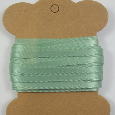5mm Double-Sided Satin Ribbon: Sage Green