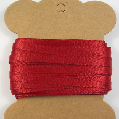 5mm Double-Sided Satin Ribbon: Scarlet