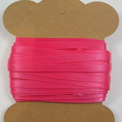 5mm Double-Sided Satin Ribbon: Shocking Pink