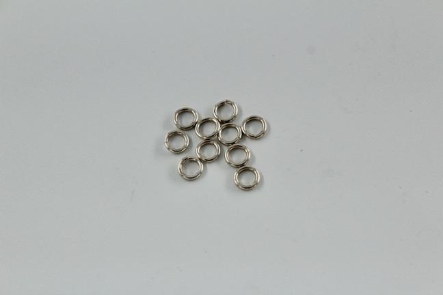 5mm jumprings - .8mm - sterling silver