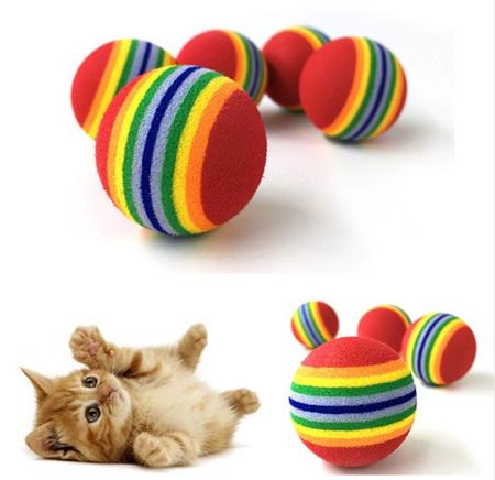 5pc Foam Ball Cat Toy - RED