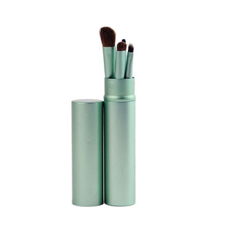 5pc Makeup Brushes in Tin Case - Green