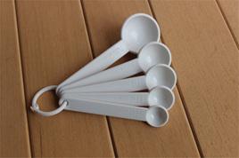 5pc Measuring Spoons - White