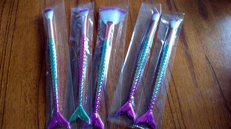5pc Mermaid Makeup Brush Set