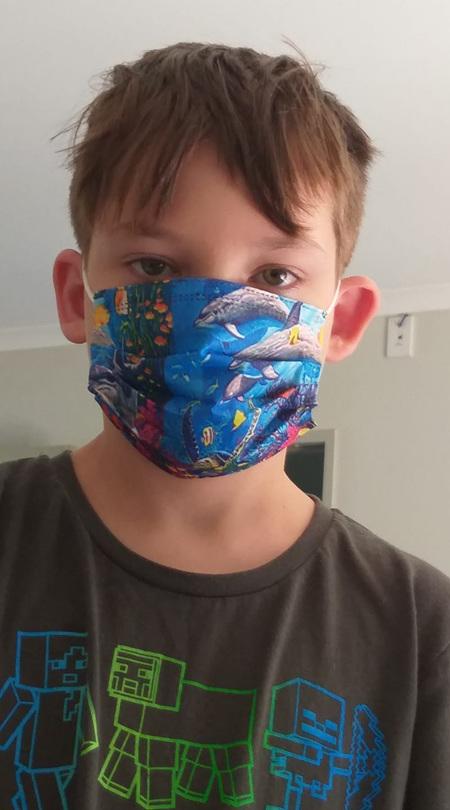 5pk Kids Underwater Theme Disposable Masks