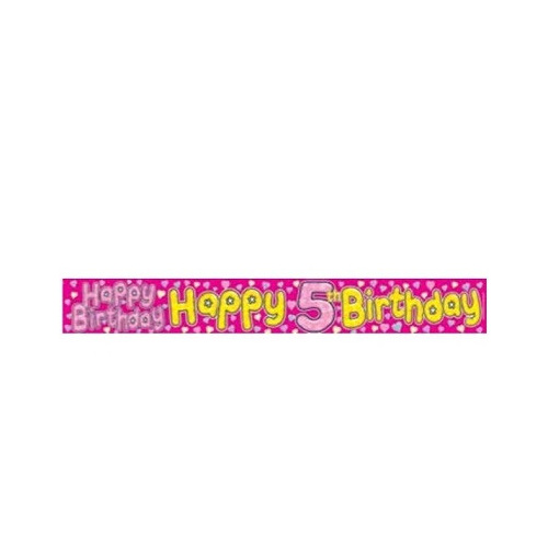 5th birthday banner female