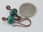 5x pair earring hooks - .8mm - Oxidised bronze