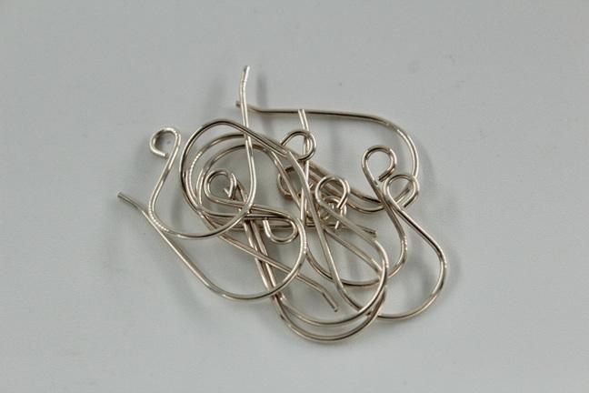 5x pair earring hooks - .8mm - sterling silver