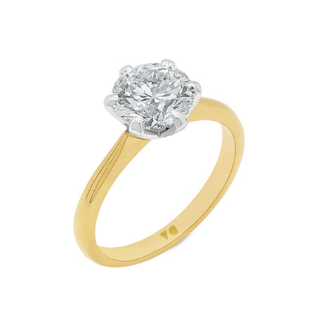 6 Claw Diamond Solitaire Delicate Band