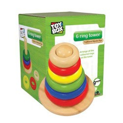 6 Ring Wooden Stack Tower
