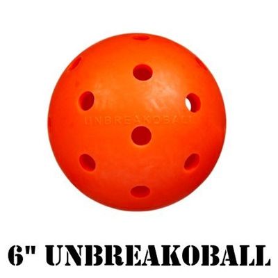 "6"" Unbreakoball Dog Ball Orange"