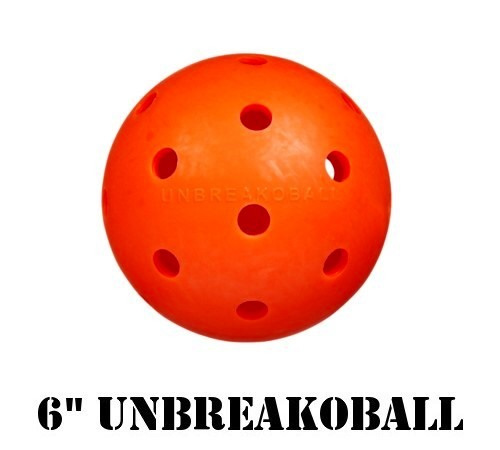 "6"" Unbreakoball, tough dog toy, orange ball"