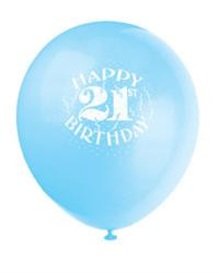 6 x 21st Birthday Balloons