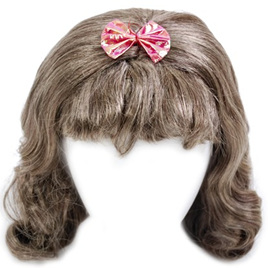 60's Girl Wig with Ribbon