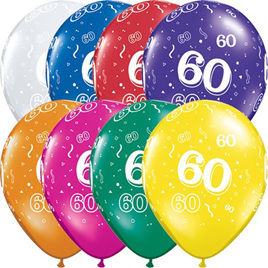 60th Birthday Balloons x 1