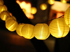2.8m White Solar Lantern String Lights - Warm White