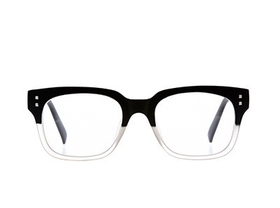 6am Readers Black & Clear