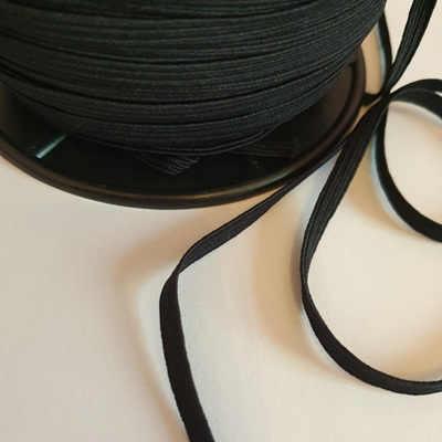 6mm Black Elastic
