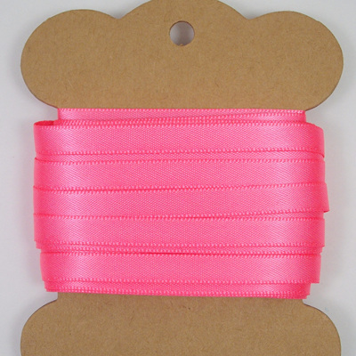 6mm Double-Sided Satin Ribbon x 10 Metres: Candy Floss Pink