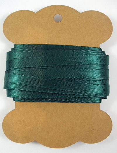 6mm Double-Sided Satin Ribbon x 10 Metres: Hunter Green
