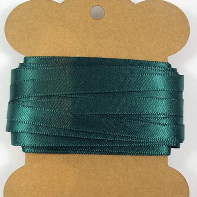 6mm Double-Sided Satin Ribbon x 10 Metres: Hunter Green