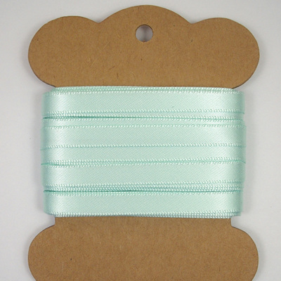 6mm Double-Sided Satin Ribbon x 10 Metres: Ice Green