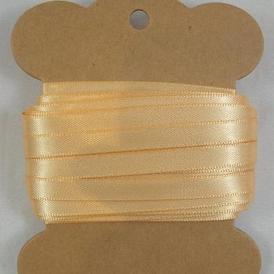 6mm Double-Sided Satin Ribbon x 10 Metres: Light Caramel