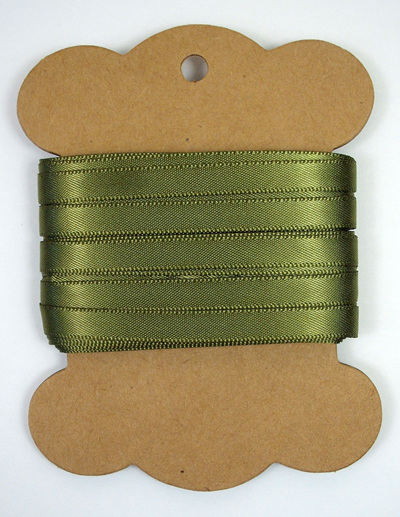 6mm Double-Sided Satin Ribbon x 10 Metres: Olive Green