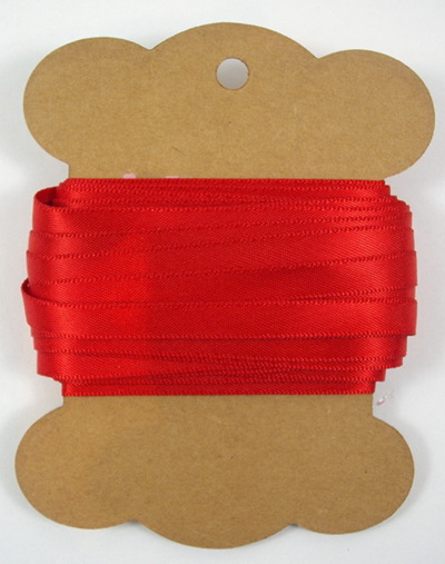 6mm Double-Sided Satin Ribbon x 10 Metres: Poppy Red