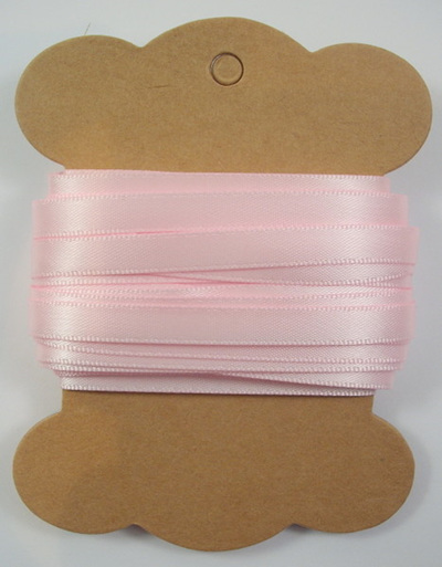 6mm Double-Sided Satin Ribbon x 10 Metres: Powder Pink