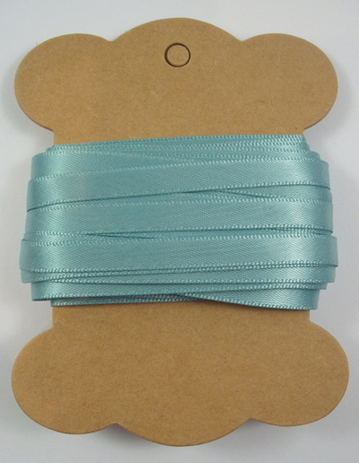 6mm Double-Sided Satin Ribbon x 10 Metres: Sea Green