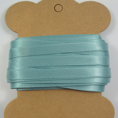 6mm Double-Sided Satin Ribbon x 10 Metres: Sea Green